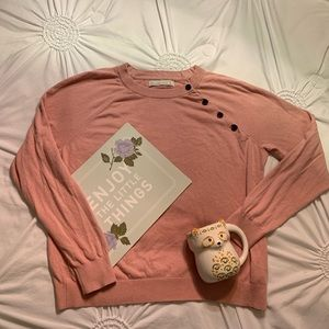 Abercrombie&Fitch blush pink sweater size L